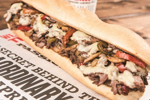 capriotti's cheesesteak sandwich