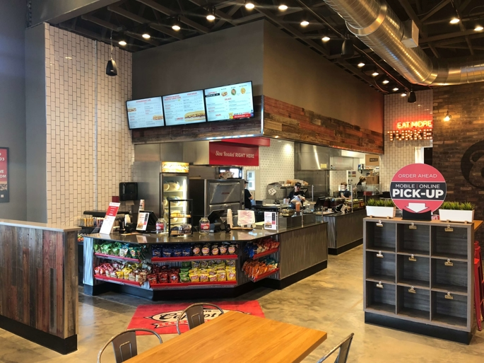 capriotti's sandwich franchise customer waiting area